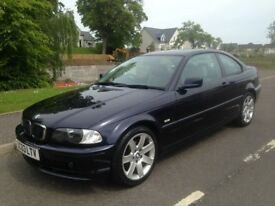 **** £1495 **** LOW MILEAGE ONLY 69 K MILES BMW 318 COUPE FULL LEATHER STUNNING CAR GENUINE MILES