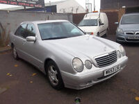 LOW MILAGE MERCEDES E CLASS AVANTGARDE SERVCE HISTORY 2 KEYS NEW MOT INCLUDED £1295