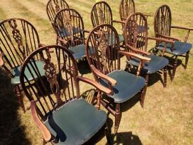 Dining chairs for sale as seen.Old charm.