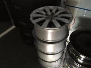 """4 Used OE Genuine Audi A4 17"""" alloy wheels, ideal winter wheels for winter tires"""