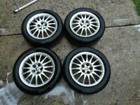Alfa Romeo 156 alloy wheels and tyres