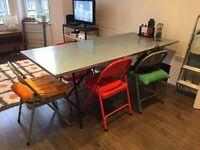 Habitat Yeoman zinc dining table