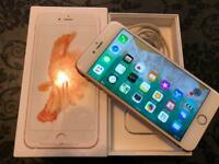 iPhone 6s Plus 32gb. O2. Rose gold. Fully boxed as new