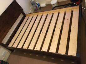 Solid Wood Warren Evans Double Bed Frame