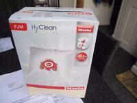Miele HyClean Genuine Original FJM Hoover BAGS x 4 plus filters, Brand New Unopened - £5