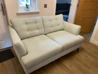 Pale blue 2 seater sofa