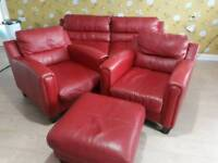 LEATHER SOFA AND CHAIRS FOR SALE
