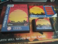 the lion king sega megadrive complete great condition