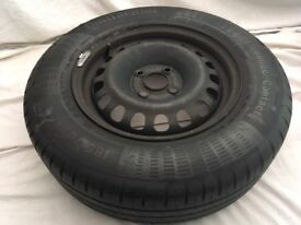 """Vauxhall Corsa D 06-15 14"""" Steel Spare Wheel CONTINENTAL TYRE 185/70 R14 Full size 5mm"""