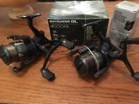 Pair of Shimano DL 4000 FA Baitrunners