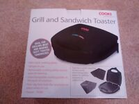 Cook's Professional two in one Grill and sandwich toaster