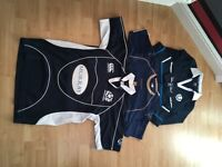 Scotland rugby and football tops for teenage boy or small woman