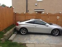 toyota celica 1.8 vvti coupe x reg year 2000,very low miles