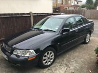 Volvo S40 (W reg) 1.6L Manual, Petrol, 4 door, Metallic Black, Very Low Mileage