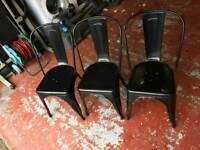 3 tolix chairs heavy duty
