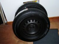 Corsa wheels and tyres as new x2 185/70/14/88H ,5mm depth on tyre.