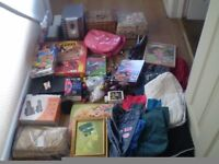 large amount of bric a brac and clothes please look at both photos