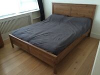 Ultra Comfort Double Bed (160cm x 200cm) with mattresses and pillows