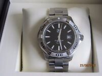 TAG Aquaracer Automatic, WAP2010, mens 41mm Calibre 5. Ex cond, 3 years old, box/papers. RRP £2000