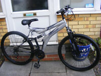 """DUNLOP 26"""" WHEEL SUSPENSION BIKE 18"""" FRAME HARDLY USED GREAT CONDITION"""