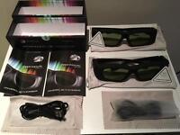 2x Universal Bluetooth 3D Glasses