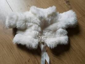 Build A Bear faux fur coat