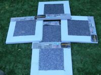 floor tiles vinyl granite effect blue /grey self adhesive