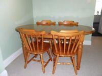Antique Pine Dining Set