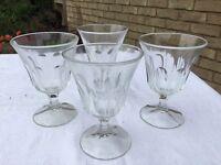 10 sundae glass dishes