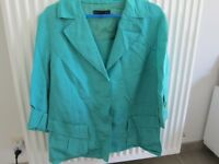 Smart plus size women's clothing (size 18, 20, 22) and casual/work shoes (7), most never worn