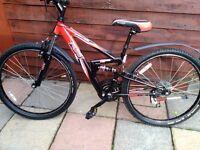 """Boys 26"""" Wheels Apollo FS26 Full Suspension Mountain Bike 14 """" Frame New Tyres"""