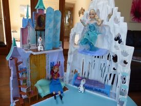 Disney frozen castle with Anna and Elsa dolls