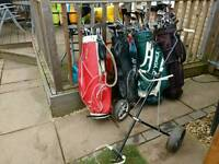 Job lit of 95 golf clubs 4 bags and a trolley