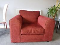 2 seater sofa and chair in good condition