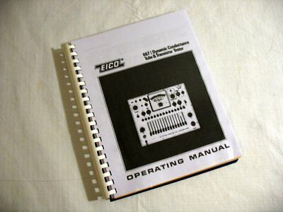 Manual Eico 667 Tube Tester Charts Updates Choose Roll Or No Roll Style