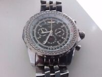 Mens breitling bentley motors diamond bezel