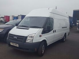 2014-63 ford transit 350-125 lwb high roof ex workshop van fitted tacho beacons etc pius vat