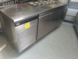 FOSTER G2 3 DOOR STAINLESS STEEL SALADETTE PIZZA TOPPING FRIDGE AST251