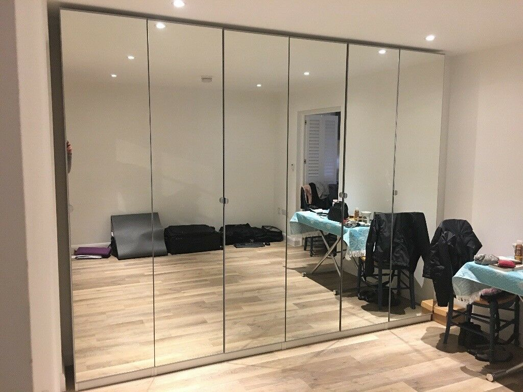Ikea Door Vikedal Wardrobe Doors With Hinges Mirror Glass 6 Available 50cm X