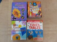 A collection of educational books