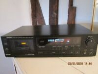 Denon Audio stereo cassette tape deck. As new