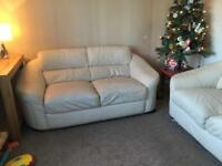 Two and Three Seater Leather Sofa / Couch