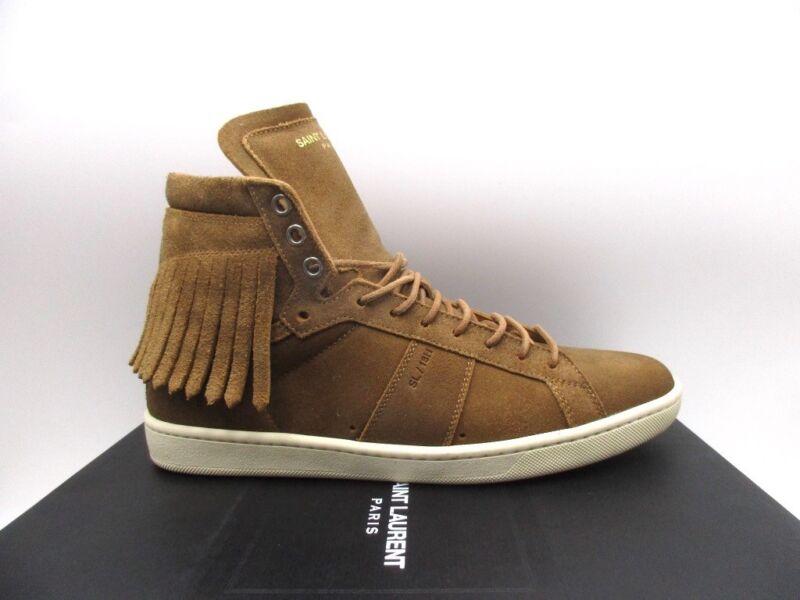 5fe7d8f5 Details about Saint Laurent YSL Womens SL/18H 20 Fringe High Top Sneakers  Flats 40.5