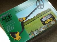 GARRETT ACE 400i METAL DETECTOR COMPLETE BOXED AND ALL AS NEW WITH 12 MONTHS WARRANTY