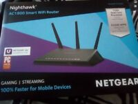 Brand new Nighthawk AC1900 smart WiFi router (NETGEAR)