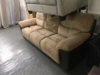 Ex display brown jumbo cord 3 seater sofa only £199