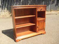 Super Clean Oak Old Charm Bookcase Shelves Hall Cabinet