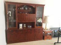 Beautiful Yew Wood Display/Drinks cabinet
