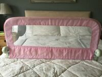 Mothercare pink bed rail