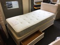 Single divan bed with headboard (FREE DELIVERY)